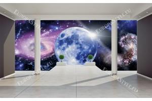 Фототапет изглед стая с космос 3д ефект