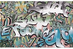 Фототапет графити в зелено