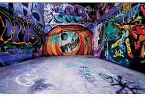 Фототапет графити врата в пространството