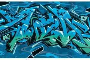 Фототапети графити на мазилка стена в 2 цвята
