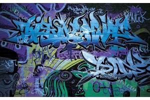 Фототапети графити на стена нови в 2 цвята
