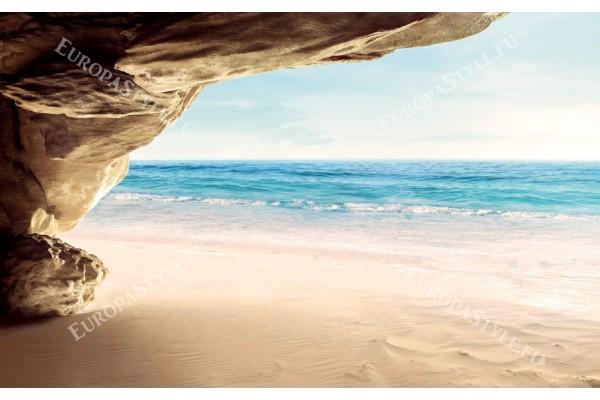 Фототапети изглед море с надвесена скала