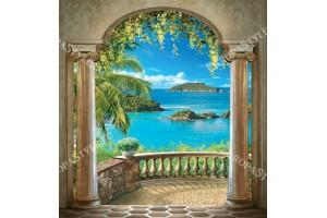 Фототапети арка класика с прекрасна гледка  с море