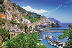 Фототапети дневен изглед крайбрежие Амалфи Италия