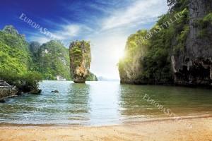 Фототапети дневен изглед на тайландски бряг и скали