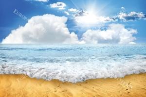 Фототапети дневен изглед морска вълна слънчеви лъчи