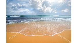Фототапети дневен изглед морска вълна слънчеви лъчи 2