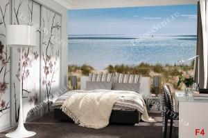 морски пейзаж на море панорама дюни