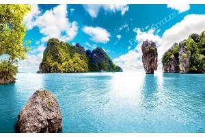 уникална природна морска гледка от Тайланд скали