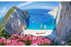прекрасен изглед на залива Закинтос в Гърция