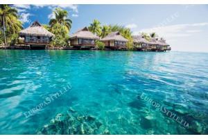 Фототапет прекрасен океан с тропически вили