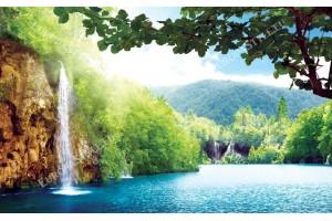 Фототапет прекрасен тропически водопад