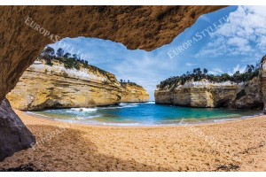 Фототапет австралийски морски пейзаж с надвесена скала