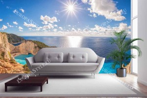 Фототапет слънчев морски пейзаж от остров Закинтос