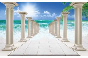 Фототапет с 3д ефект колони и вливащо се море