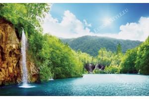 Фототапет прекрасен водопад в Тайланд