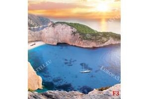 Фототапети красив средиземноморски залив залез