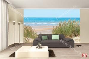 Фототапети гледка на море, дюни и тръстика