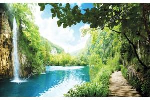 Фототапети водопад в Тайланд и пътека