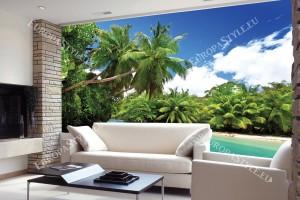 Фототапети тропически залив с красиви палми