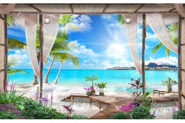 екзотика на морски бряг 3д ефект спа център