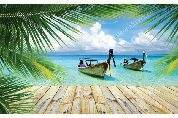 Фототапет тропически изглед с лодки