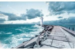 Фототапети бял морски фар красива гледка