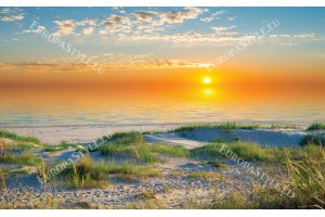 Фототапети морски бряг при изгрев и дюни