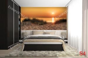 Фототапети морски бряг при залез и дюни