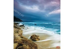 Фототапети скалист морски бряг прекрасен залез в 2 цвята