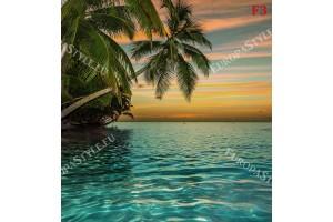 Фототапет морски залез с надвесени палми в 2 варианта