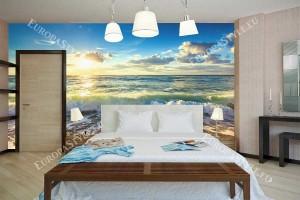 Фототапет морски изгрев и красиви морски вълни