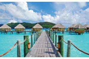 Фототапети мостик красива гледка на море и вили