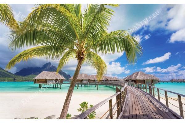 Фототапет изглед мостик тропическо море