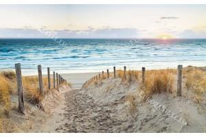 Фототапети пътека дюни плаж при залез