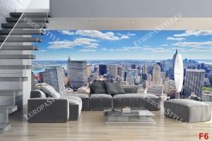Фототапети панорамен дневен изглед на Ню Йорк
