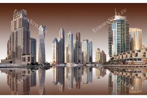 Фототапети Дубай с огледален изглед в 2 цвята
