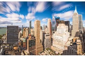 Фототапети Ню йорк слънчев изглед на финансовия център