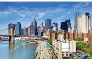 Фототапети дневен изглед на бруклински мост Ню Йорк Манхатън
