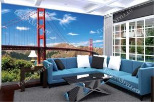 Фототапет дневен изглед на моста в Сан Франциско 3