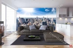 Фототапет дневен изглед на Манхатън Ню Йорк слънце