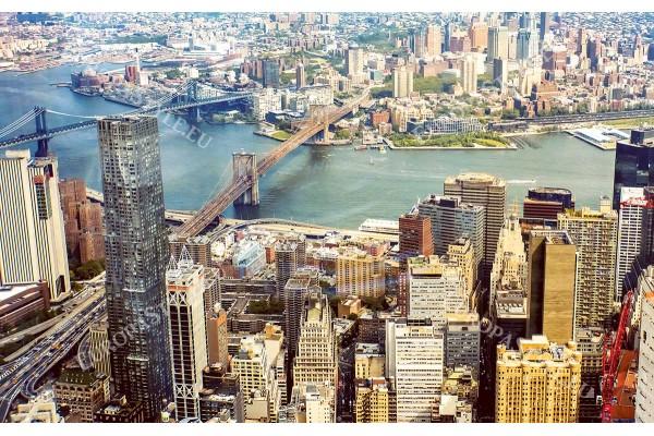 Фототапети градски панорамен изглед от Ню Йорк с 2 моста