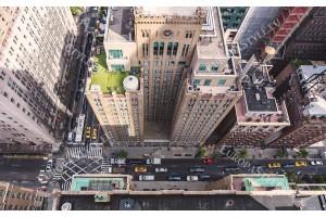 Фототапет космополитен изглед на улица Ню Йорк поглед от високо