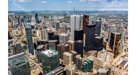 Фототапет градски небостъргачи в Торонто поглед отгоре