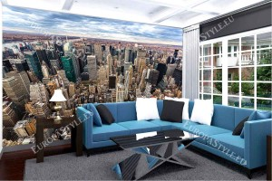 Фототапет Ню Йорк сити панорамна гледка от небостъргач