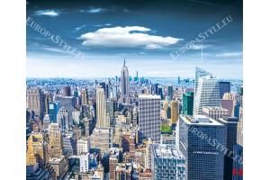 Фототапет Манхатан кулата цветен изглед