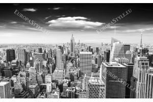 Фототапет Манхатан кулата изглед в сиво