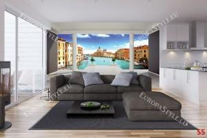 Фототапет изглед стая Венеция 3д ефект