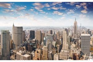 Фототапети панорамна гледка на небостъргачите в Манхатън