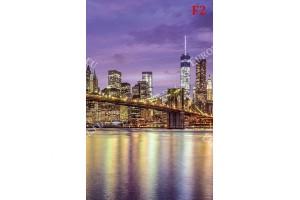 изглед цветна панорама на моста Бруклин